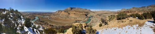 palisade, Colorado, pavasaris, panoraminis, sodai, vynuogynai, Žemdirbystė, žygiai, Colorado panorama