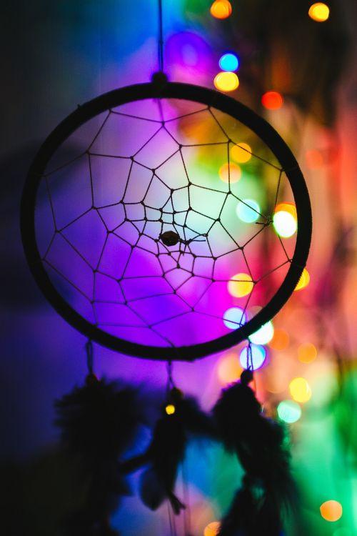 spalvinga,spalvinga,sapnų gaudyklė,žibintai,siluetas