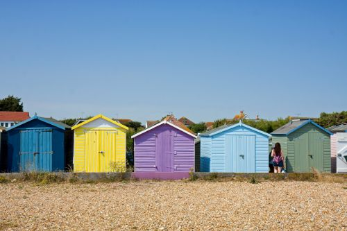 paplūdimys & nbsp, nameliai, paplūdimys & nbsp, namai, spalvinga, papludimys, nameliai, medinis, šviesus, šventė, vasara, spalvingi paplūdimio nameliai