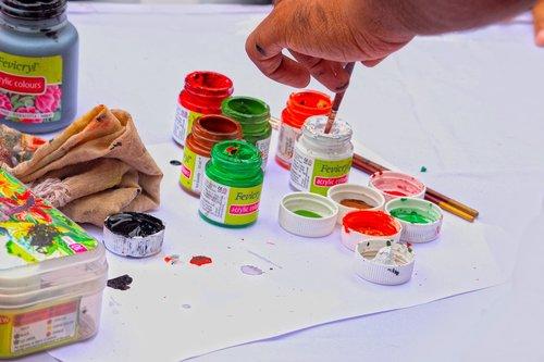 spalvos, juodos spalvos, popierius, tapyba, šepetys, menas, Atlikėjas ranka, ranka spalva, spalva Splash, baltos spalvos, spalvotas, dėžutė, spalvų paletė, piešimo, spalva nustatymas