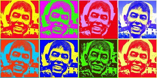 komiksas,Warhol,andy,stilius,vyro portretai,draugai,Draugystė,iliustracinis vaizdas,karikatūra,komiksas,vyrai,vaikinai,šypsena,šypsnys,draugiškas,vaizdingas,photoshop menas,vaizdo manipuliavimas,manipuliavimas nuotraukomis