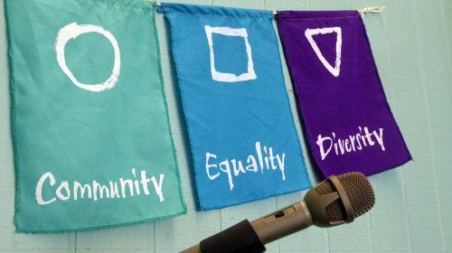 vėliava, vėliavos, bendruomenė, lygybė, įvairovė, mikrofonas, laisvė, laisvė & nbsp, kalba, kalba, bendruomenė, lygybė, įvairovė