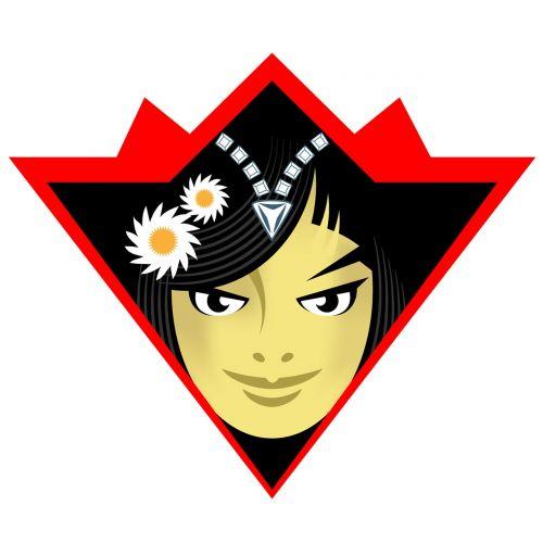 kompozicija,skaitmeninė iliustracija,skaitmeninis dizainas,simbolių dizainas,Adobe Illustrator,logotipo dizainas,vektorinis menas,vektorinis dizainas,produkto dizainas,Grafinis dizainas,piktogramos dizainas,Lady veido,merginos veidas,asian veidas,Azijos mergaitės veidas