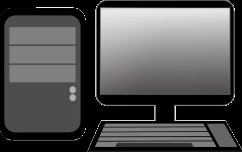 kompiuteris,stalinis kompiuteris,klaviatūra,stebėti,Kompiuterio monitorius,pc,Asmeninis kompiuteris,nemokama vektorinė grafika