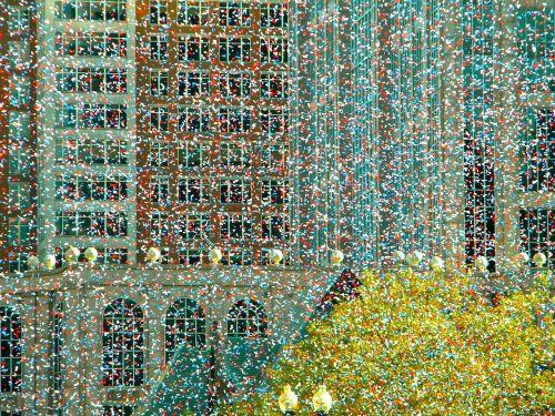 konfeti,šventė,šventė,Bostonas,Copley aikštė,raudonasis sūkurys