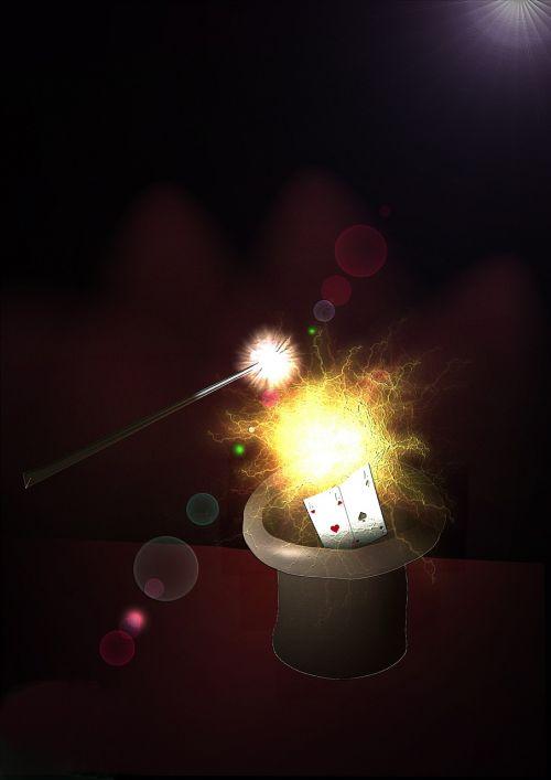 įsimylėti,lazdelė,magija,iliuzija,triukas,pristatymas,magiškoji skrybėlė,kortelės,kortelės apgauti,magas,radijas,grafika