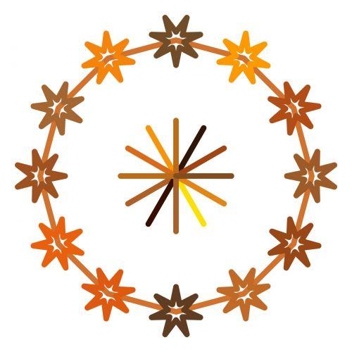 simetriškas, piešimas, žvaigždynas, žvaigždės, gėlės, izoliuotas, balta, fonas, spalvos, žvaigždynas