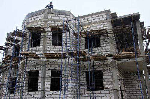 statyba,namų statyba,naujas namas,būstas,namas,siena,gyvenamoji statyba