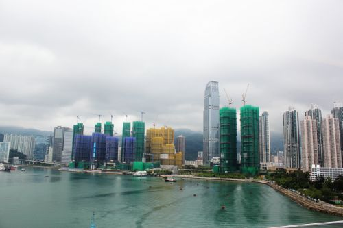 statiniai & nbsp, pastatai, konstrukcijos, pastatai, vieta, Honkongas, struktūros, ežeras, papludimys, uostas, debesys, vaizdas, statiniai ir pastatai