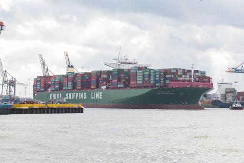 konteinerių laivas,hamburgo uostas,konteinerių tvarkymas,konteinerių tilto kroviniai,konteinerių terminalas,uosto kranai,konteineris