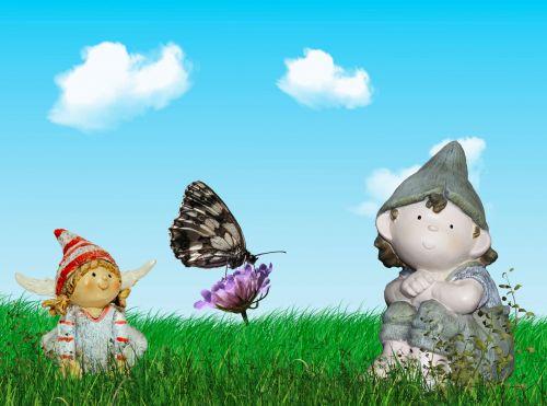 fėja, sodas, pavasaris, fėja & nbsp, pasaka, spalvinga, gėlės, elfai, fantazija, pasaka pirmiausia