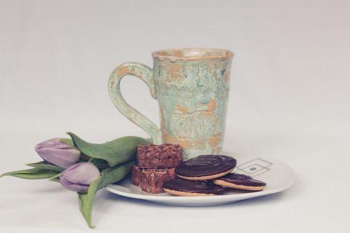slapukai,gėlės,puodelis,taurė,Senovinis,čalis