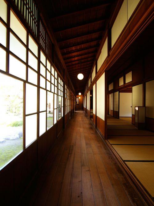 koridorius,kaimo namai,seni namai,istorija,tradicija,namai,namai,Japonija,medinis,pastatas,istoriškai