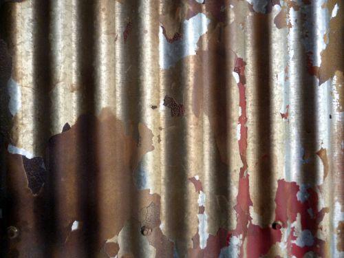 geležis, alavas, fonas, tekstūra, lupimas & nbsp, dažai, gofruotoji geležis