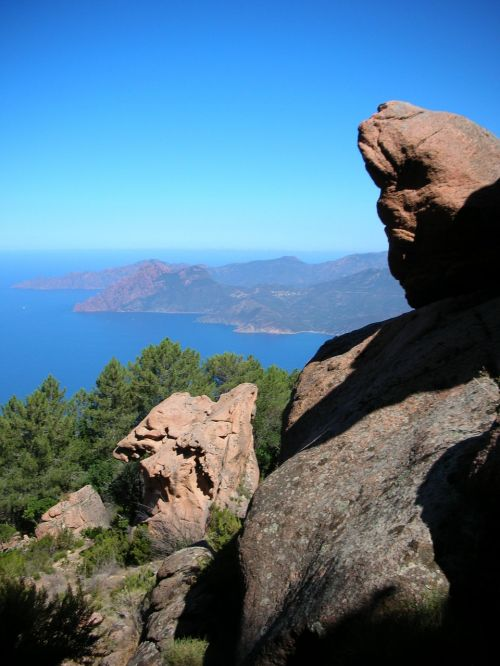 Korsika,kalnai,gamta