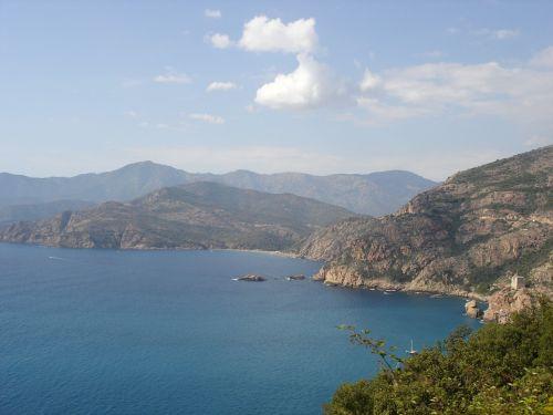 Korsika,kraštovaizdis,jūra