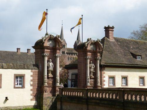 corvey,vienuolynas,bažnyčia,romanesque,Höxter,žemutinė Saksonija,pasaulinis paveldas,istoriškai,Unesco,UNESCO pasaulio paveldo vieta,UNESCO pasaulio paveldas,tiltas,tikslas