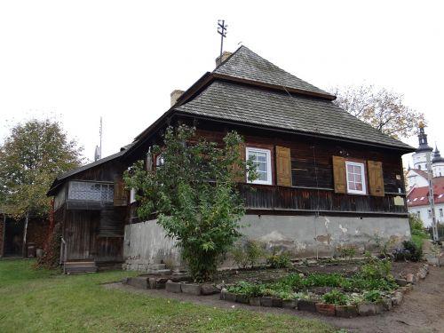 namelis,Miestas,sodininkas,pasienio kultūros,medinis namas,senas kotedžas,medinis namas,paminklas,architektūra,medinis,medinė architektūra,gintas,Lenkija