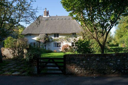 namelis,Anglų,Šalis,šiaudinis šiaudinis stogas,sodo siena,bosham,vakarų sussex,uk