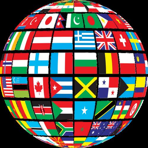 šalyse,vėliavos,gaublys,politinis,politika,socialiniai mokslai,pasaulis,nemokama vektorinė grafika