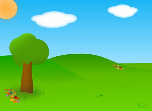Šalis,žalias,saulė,medis,gėlė,laukas,debesys,kraštovaizdis,žolė,kalnas,tapetai,fonas,saulėtas,peizažas,kaimas,nemokama vektorinė grafika