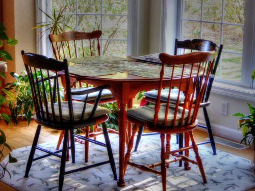 kritimas, ruduo, lapija, Vermont, sezoninis, namai, stalas, virtuvė, kiemas, kėdės, valgymas, Šalis, šalies komfortas