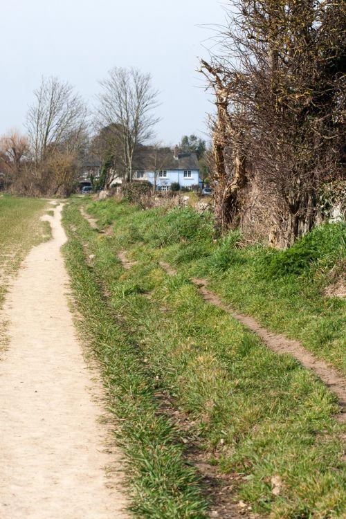takas, trasa, pėsčiųjų takas, kaimas, gamta, kaimiškas, kaimas, namelis, mėlynas, dangus, Laisvas, vaizdas, viešasis & nbsp, domenas, namas, namai, kaimo takas