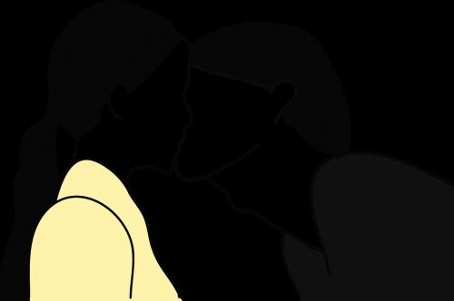 pora,bučinys,romantiškas,kartu,bučiavosi,heteroseksualas,mėgėjai,paprastas piešimas