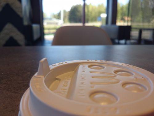 McDonald, kava, karštas & nbsp, šokoladas, dangtelis, pusryčiai, padengti, užraktas, padengti