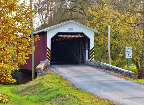 tiltas, padengtas, padengtas & nbsp, tiltas, strasburgas, usa, amerikietis, pa, pennsylvania, nuostabus, vintage, uždengtas tiltas