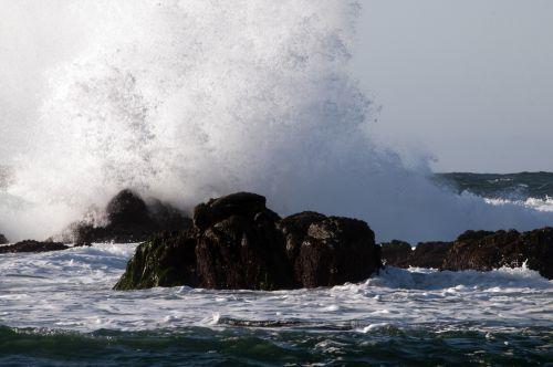banga, kritimo & nbsp, banga, vandenynas, jūra, papludimys, Rokas, kritimo banga