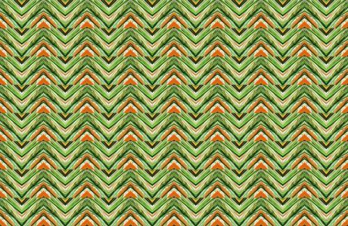 modelis, tapetai, žalias, oranžinė, zigzag, Crazy Crayon Chevron modelis