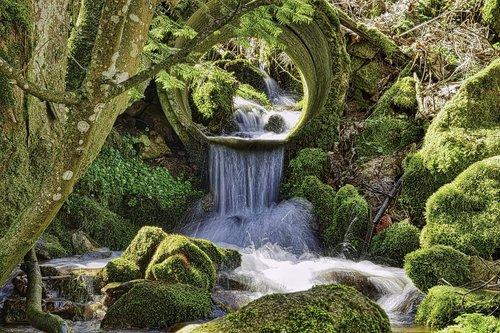 upelis, pobūdį, krioklys, lapų, vandenys, upė, vandens, kraštovaizdis, laisvai, Bach, kepalas, akmenys, natūralus vandens, sumurma, natūralus upelis, begantis vanduo