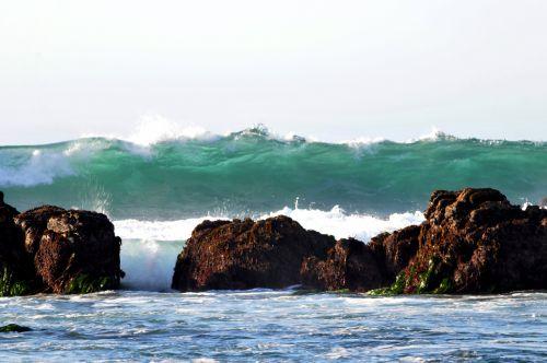 banga, vandenynas, papludimys, pynimas, & nbsp, banga, banglenčių sportas, vanduo, kritimo & nbsp, banga, trupinimo banga