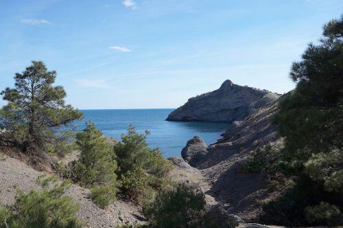 krymas,jūra,kalnai,nauja šviesa,gamta,kraštovaizdis,Juodoji jūra,pavasaris,įlanka,jūros dugnas,kelionė,atostogos