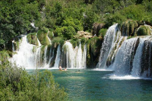 kroatija,krioklys,žemė,kriokliai,ežerai,Nacionalinis parkas,Dalmatijos kriokliai,kraštovaizdis