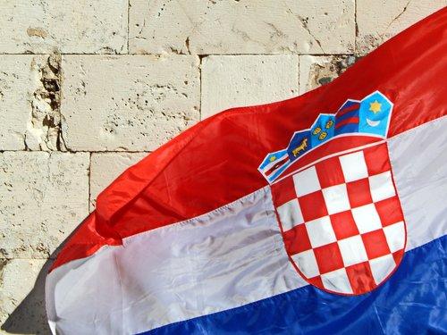 Croatian vėliavos, vėliava, Kroatija vėliavos, Kroatijos herbas, vėjo, Kroatija, kroatų, smūgis, šalis, oficialus