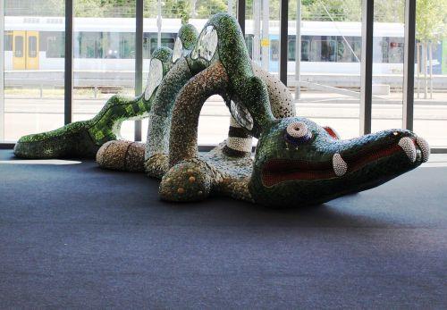 krokodilas,menas,niki de saint phalle,mozaika,Rorschach