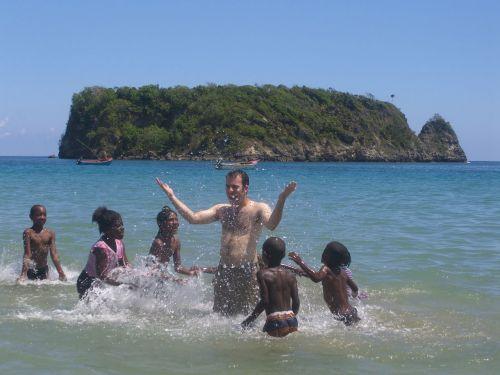 kirsti, kultūra, žaisti, laikas, krikščionis, juoda, balta, vaikai, maudytis, kryžiaus kultūra