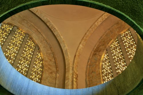 paminklas, interjeras, langai, arkos, balkonas, skerspjūvio lango arkos
