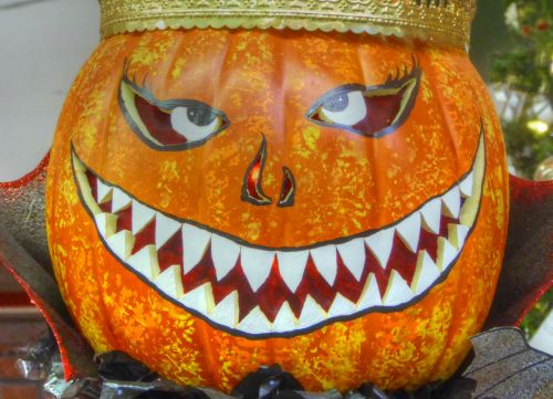 Halloween, moliūgas, moliūgas & nbsp, veidas, apdaila, Moliūgas žibintas, šypsena, karūna, karalius, karūnuotas šypsosi moliūgas