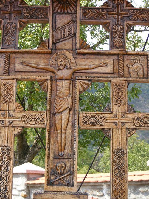 nukryžiuotas,vienuolynas,religija,skulptūra,trinybė,medinis,tikėjimas ir religija
