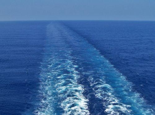 gamta, vanduo, vandenynas, jūra, jūros dugnas, ramus, gabenimas, kelionė, Ramiojo vandenyno vandenynas, pabusti, mėlynas & nbsp, vanduo, mėlynas & nbsp, okeanas, churning & nbsp, vanduo, takas, mėlynas & nbsp, dangus, horizontas, mėlynas & nbsp, horizontas, atostogos, taikus, nuotykis, amžinybė, kruizinio laivo budėjimas