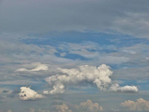 cumulonimbus,cumulus,debesys,dangus,oras,spalvos,balta,pilka,mėlynas,cloudscape