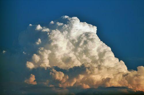 debesis, balta, tankus, cumulus, cumulus cloud