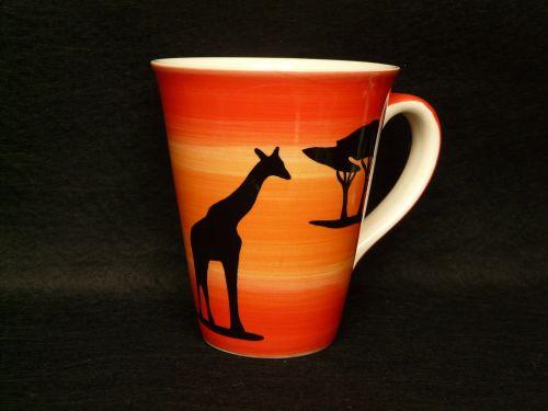 taurė,kavos puodelis,žirafa,afrika,spalvinga,spalva,gerti,kava,henkel