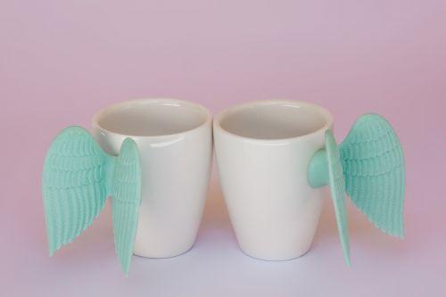 taurė,sparnas,turkis,silikonas,simbolinis,porcelianas