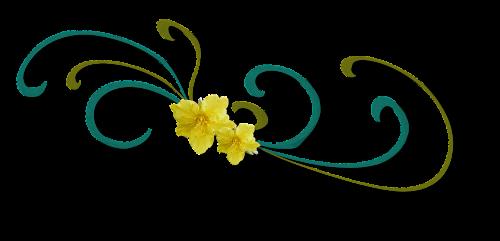 Curl,dekoratyvinis,gėlė,geltona,iškarpų albumas