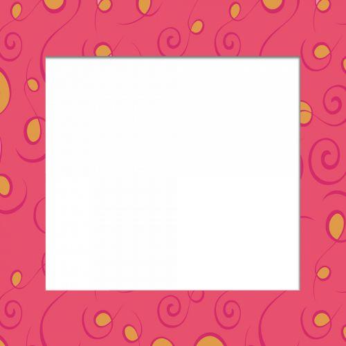 rožinis, garbanotas, rėmas, renesansas, auksas, apskritimai, kvadratas, garbanotas rėmas 4