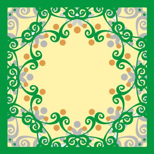 žalias, rėmas, garbanotas, piešimas, figūra, modelis, grietinėlė, fonas, garbanotas rėmas 8